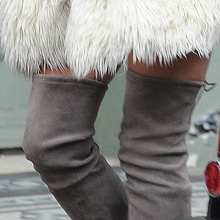 Kate Moss Snapped on the Steet in Over the Knee Boots