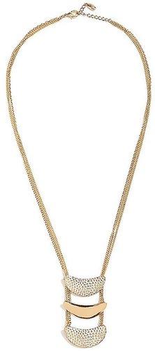 Stingray-Texture Triple Drop Necklace