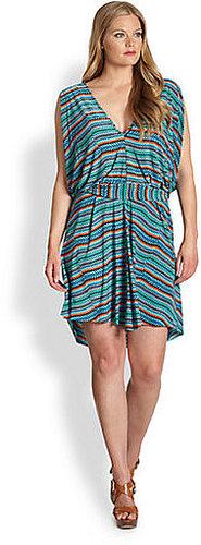 T-bags Los Angeles, Salon Z Flutter-Sleeve Printed Dress