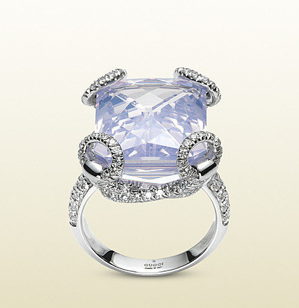 Horsebit Cocktail Ring With Lilac Quartz