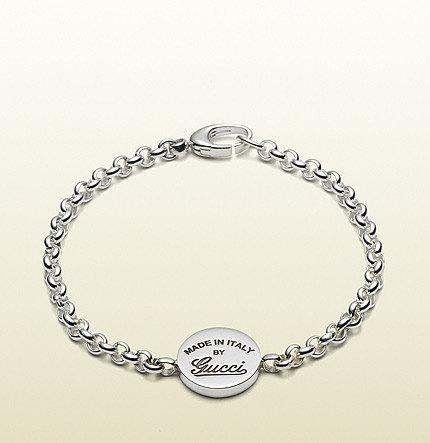 Bracelet With Vintage Gucci Trademark Engraving