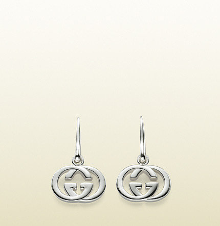 earrings with interlocking G pendant.