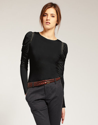 ASOS Puff Sleeve Lace Insert Top