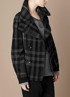 Oversize Jacket With Funnel Neck