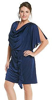 R  M Richards R & M Richards® Plus Size Silky Blouson Dress