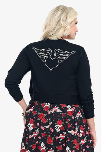 Retro Chic By Torrid - Black Winged Heart Cardigan
