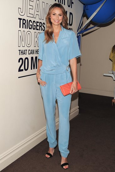 Stacy Keibler at the Rebecca Minkoff dinner for the label's denim collection in New York. Source: Billy Farrell/BFAnyc.com