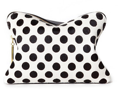 Preorder 3.1 Phillip Lim White And Black Polka Dot 31 Minute Cosmetic Zip