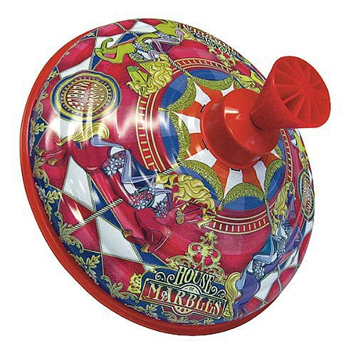 Carousel Horses Humming Tin Top