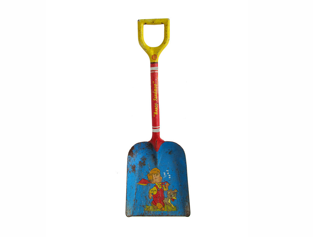 Happy Sandman Metal Tin Shovel