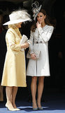 Kate Middleton chatted with Camilla, Duchess of Cornwall, while watching the Garter Service pass by in Windsor, England, in June 2011.