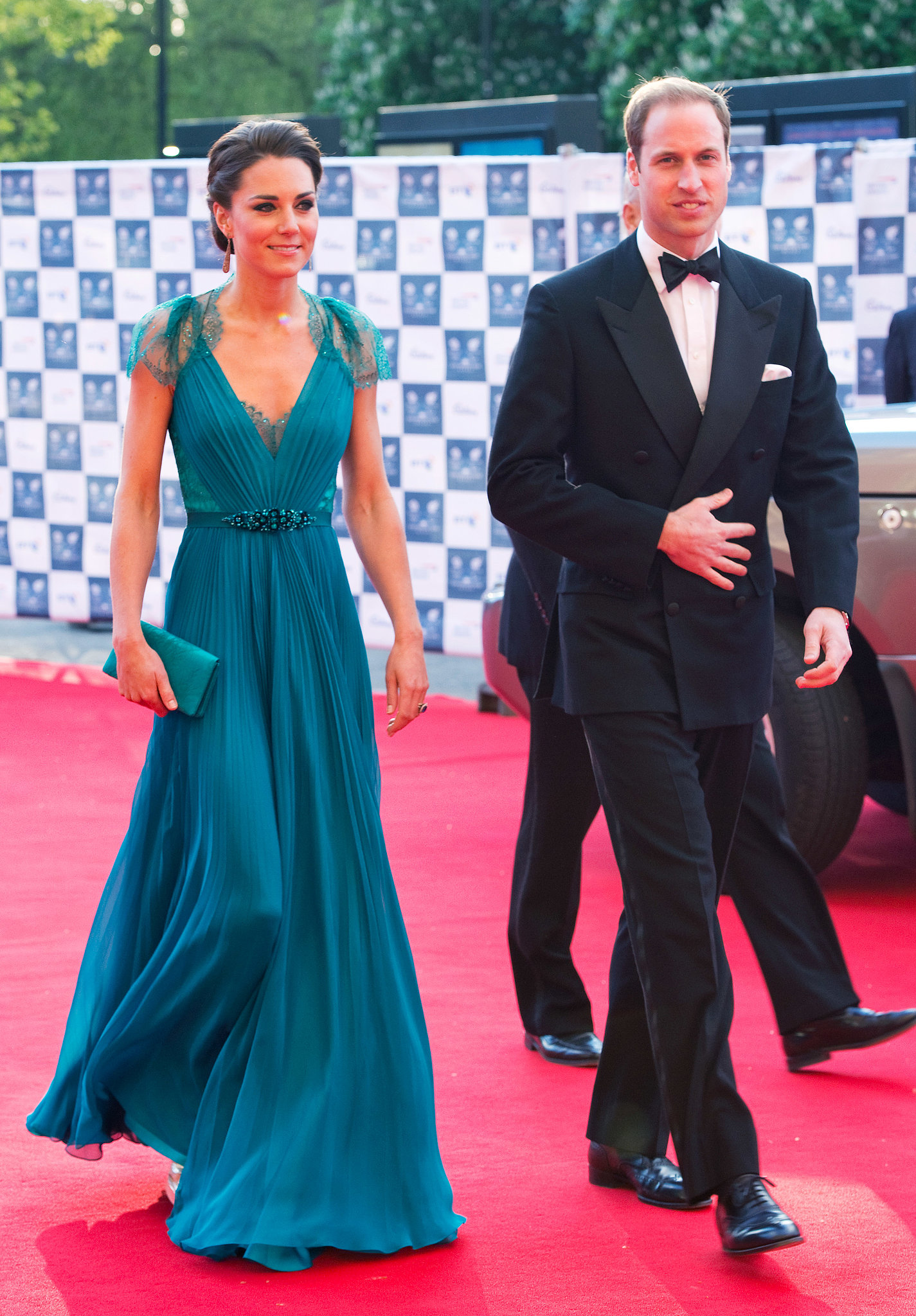 She looked stunning on the red carpet when she attended a launch party for the London Paralympics in May 2012 with Prince William.