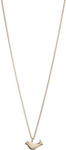 Minor Obsessions Gold & Diamond Bird Pendant Necklace