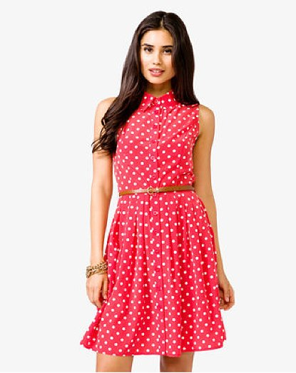 Say hello to your easy everyday dress, aka Forever 21's Belted Polka Dot Shirtdress ($25).