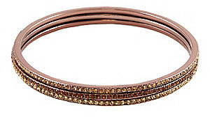 Givenchy® Brown Goldtone Topaz Bangle Set