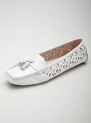 Taryn Rose Carissa Floral Cutout Leather Loafer