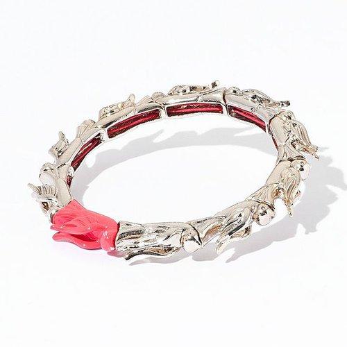 Princess vera wang gold tone bird link stretch bracelet