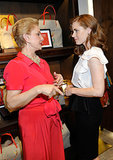 Amy Adams chatted with her pal Carolina Herrera at Carolina's new store opening party in LA.