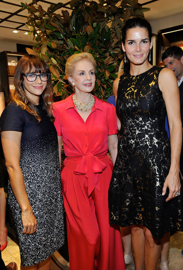 Rashida Jones and Angie Harmon supported Carolina Herrera at the opening of her new boutique in LA.