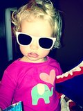 Little Maxwell Johnson was ready for Summer in her cool shades! Source: Twitter user JessicaSimpson