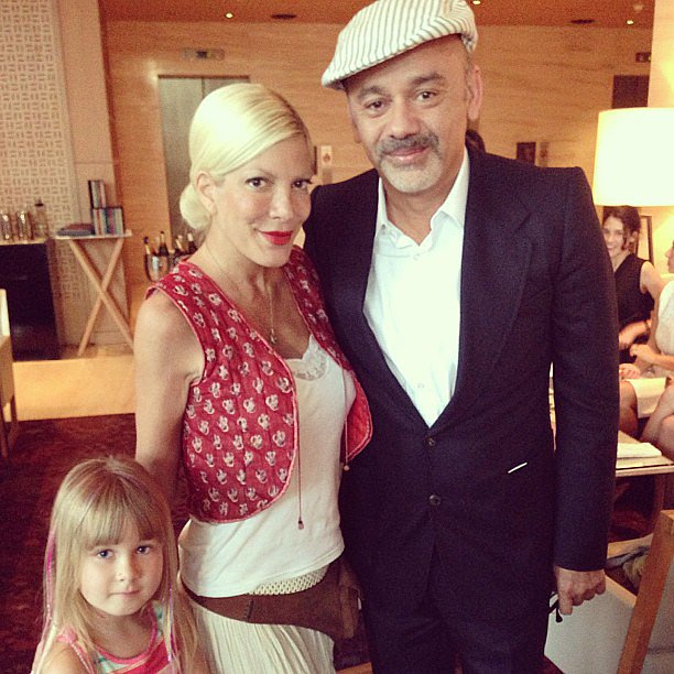 Tori Spelling took her eldest daughter, Stella, to meet the legendary Christian Louboutin. Source: Instagram user torianddean