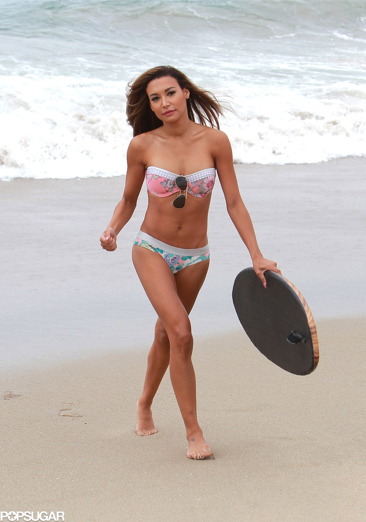 Naya Rivera, a star from the hit show Glee, was at the beach in her bikini on Thursday afternoon.