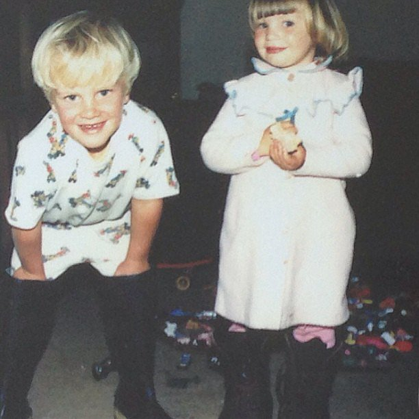 Candice Swanepoel showed her fans how cute she and her brother were back in the day. Source: Instagram user angelcandices