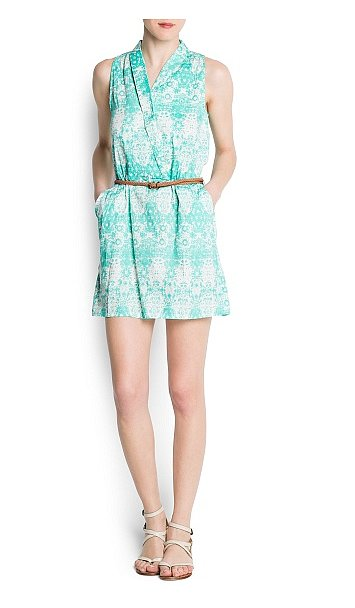 From the beach to your weekends in the city, you'll be happy you have this Mango Cotton Printed Wrapped Dress ($50).