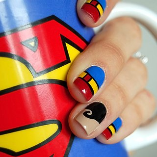 Superman Nail Art