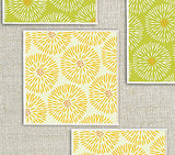 Green and Yellow Burst Coasters