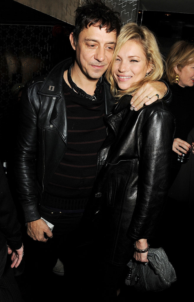 Jamie Hince and Kate Moss looked rocker chic in their matching black outfits while attending a London store launch in November 2012.