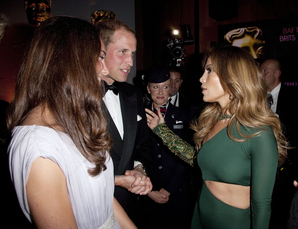 Jennifer Lopez met newlyweds Prince William and Kate Middleton at the July 2011 BAFTA Brits to Watch Event in LA.