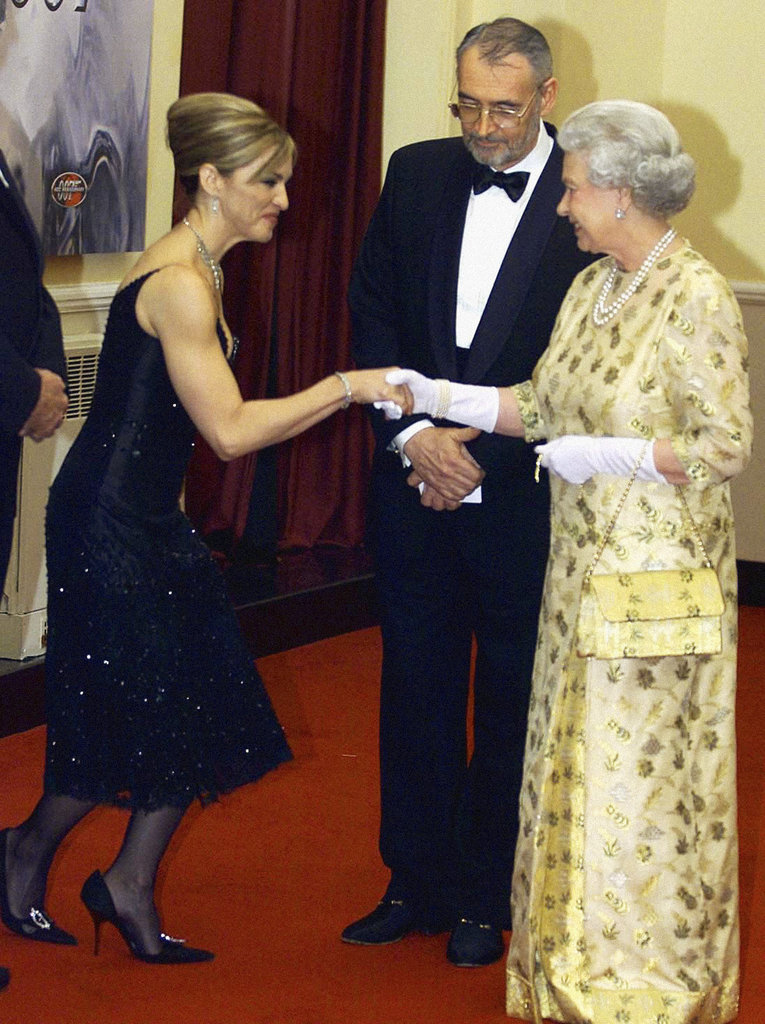 The queen of pop, Madonna, met the Queen of England at the November 2002 world premiere of Die Another Day in London.