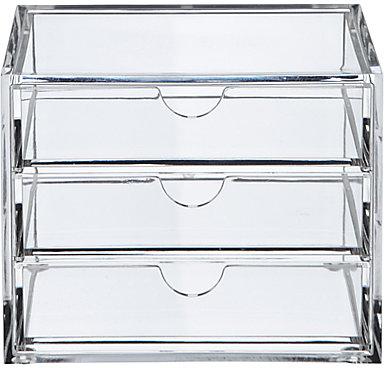Oscar 3 Drawer Acrylic Storage Unit, Small