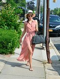 Miranda Kerr Shows a Little Leg in a Breezy Dress in NYC