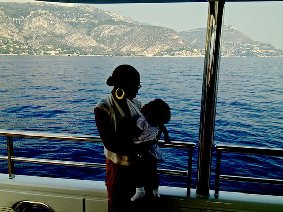 Beyoncé and Blue hung out on a yacht. Source: Beyoncé on Tumblr