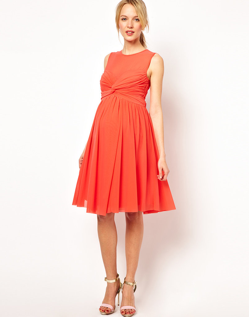 If you're newly expectant with a formal evening occasion on the horizon, ASOS's Mesh Maternity Dress ($36) is a great (and affordable!) option. The knot-front detail and empire waist detract attention from the early stages of a baby bump and, a few months down the road, will make a great way to flaunt a bigger one!