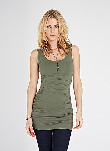 A great layering tank ($75) is essential for providing a smooth foundation. Isabella Oliver's long jersey version is the perfect pick.