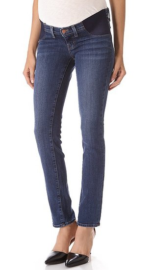 The front pockets of J Brand's Mama J Rail Maternity Jeans ($216) have been replaced with soft elastic panels, making for an easy transition as your belly grows and body changes. They're constructed from supersoft, stretchy denim. Wear with a fitted tee to showcase your bump, or leave 'em guessing during those early days in a flowing tunic.