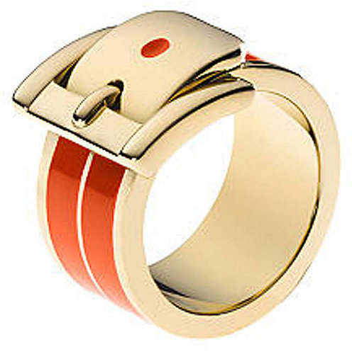 MICHAEL KORS Gold-Tone Double Layer Buckle Ring