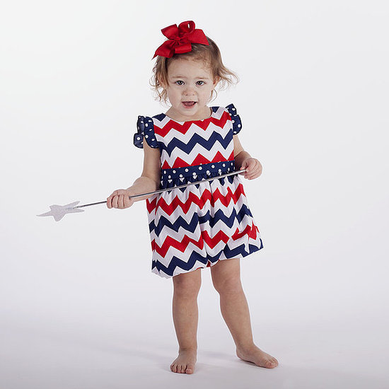How adorable is this spirited red, white, and blue chevron dress ($32) from Lolly Wolly Doodle?