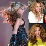 Who: Beyoncé The look: The ultimate kinky curls When you've got hair that you have to whip on stage regularly, it's only natural to gravitate toward huge, kinky curls. Beyoncé likes her straight hair, but has definitely been seen sporting her curls more on stage.