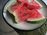 Watermelon With Honey-Lime Syrup