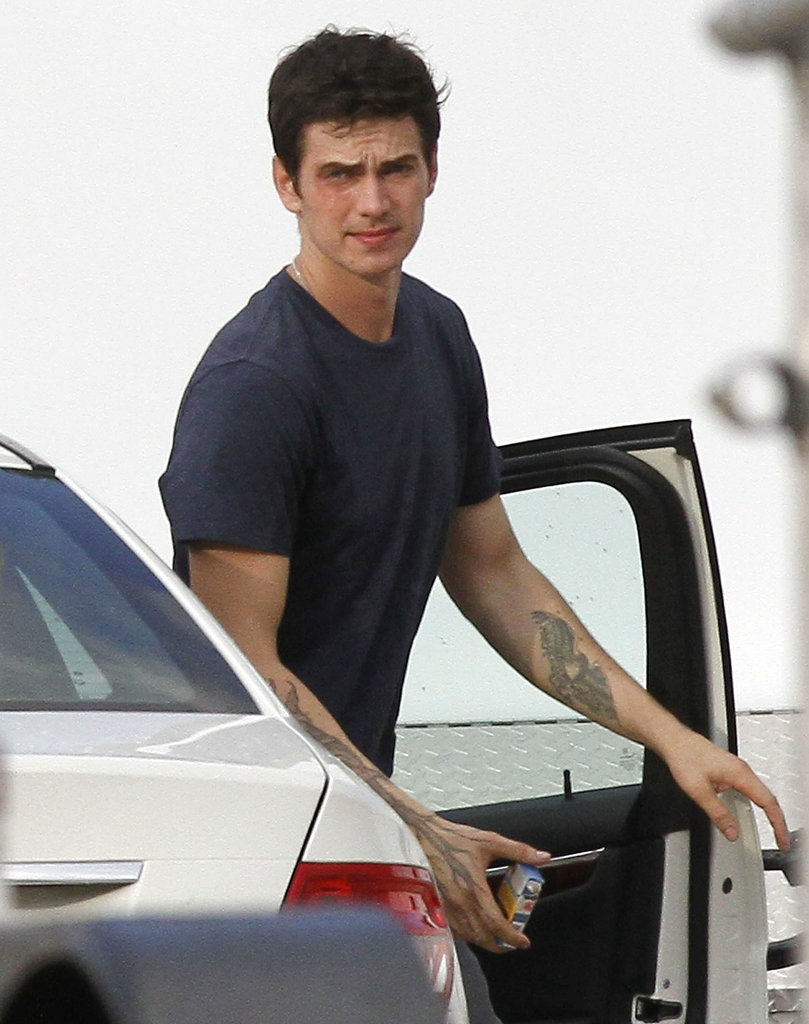 Hayden Christensen was spotted on the set of his new film, American Heist, on Thursday.