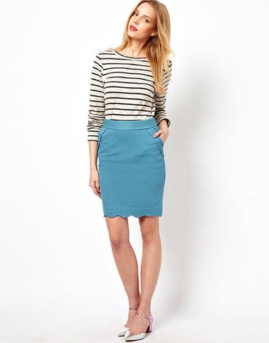 Darling Scallop Edge Skirt