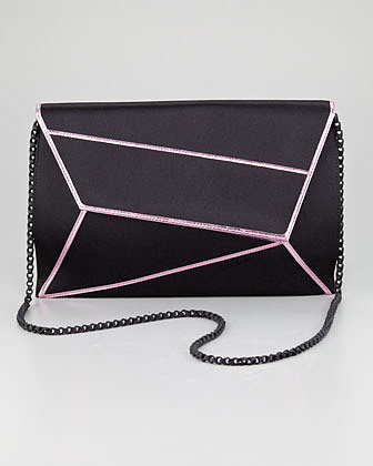 SW1 Matrix Asymmetric Envelope Clutch Bag
