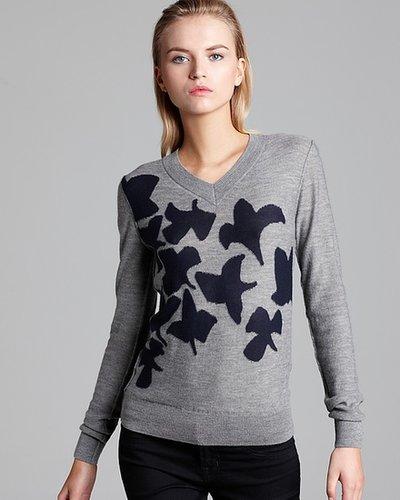 SONIA RYKIEL Sweater - Cashmere Leaf Intarsia