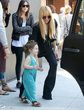 Rachel Zoe helped her son, Skyler, into a car.