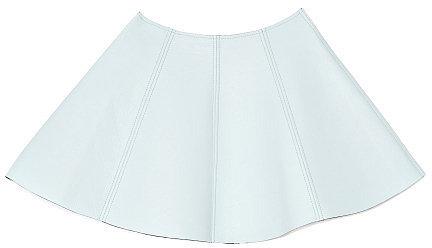 Preorder Opening Ceremony Dakota Seamed Leather Mini Skirt In Sky