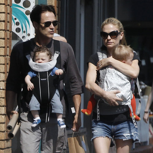 Anna Paquin and Stephen Moyer With Poppy and Charlie Photos